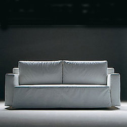 Flexform - Flexform Winny Sofa Bed - Sofa frame in metal with foam polyurethane padding covered with a protective fabric lining. Extendible with a patented mechanical movement Backrest cushions in polyurethane and dacron ordDown-filled. Upholstery in removable fabric covers. Platform constructed with wooden slats. Manufactured by Flexform in Italy. Price includes shipping to the USA.Designed in 1999.