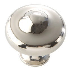 Hickory Hardware - Hickory Hardware 1-5/16 In. Triomphe Bright Nickel Cabinet Knob - Often characterized with clean, sleek lines.  Marked with solid colors, predominantly muted neutrals or bold bunches of color.  An emphasis on basic shapes and forms.