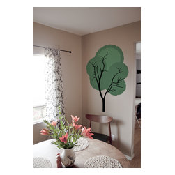 Design Your Wall - Shaggy Tree - Wall Decal - This tree wall decal makes a great addition to any wall space.