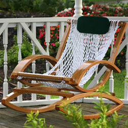 Deluxe Bent Oak Rocker - This rocker is a completely different take on the traditional front porch version. The curved wood is used to make unique armrests and rockers. I love the geometric shapes they make.