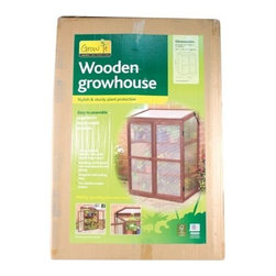 Gardman USA - Wooden Growhouse FSC Timber - Raised Wooden Cold Frame -FSC Timber