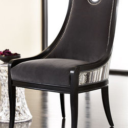 """""""Slated"""" Chair - A great accent chair for any room in your home, the """"Slated"""" chair is upholstered in luxurious fabric and handsome nailhead trim.    * 26""""W x 27""""D x 41""""T."""