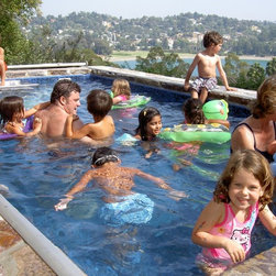 Endless Pools - Original Endless Pools®, Pool Party - The Endless Pool is a serious exercise machine, but kids LOVE it too!  It's versatile enough for fitness, therapy, and entertaining, indoors or out.