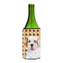 Caroline's Treasures - Clumber Spaniel Fall Leaves Portrait Wine Bottle Koozie Hugger - Clumber Spaniel Fall Leaves Portrait Wine Bottle Koozie Hugger Fits 750 ml. wine or other beverage bottles. Fits 24 oz. cans or pint bottles. Great collapsible koozie for large cans of beer, Energy Drinks or large Iced Tea beverages. Great to keep track of your beverage and add a bit of flair to a gathering. Wash the hugger in your washing machine. Design will not come off.