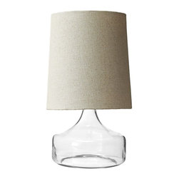 Perch Table Lamp, Clear - This sleek lamp would fit seamlessly in any space.