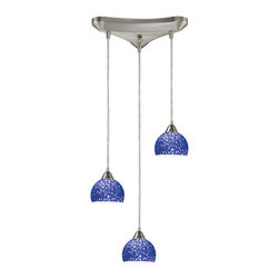 ELK - ELK 10143/3PB Pendant - Individuality Is What Defines This Exquisite Line Of Hand Blown Glass. Each Piece Is Meticulously Hand Blown With Up To Three Layers Of Uncompromising Beauty And Style.