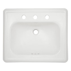 "Toto - Toto LT531.8 Cotton White Promenade Self-Rimming Lavatory 8"" Centers ADA - The Toto LT531.8#01 is a rectangular self-rimming lavatory, with sculpted traditional lines in the promenade suite from Toto USA. The Toto LT531.8#01 measures 28"" x 22"", faucet mounts on 8"" center and comes in cotton white finish"