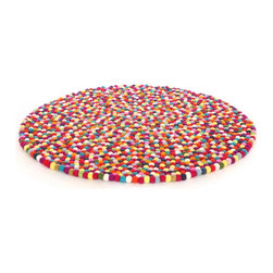 "Happy as Larry - Happy as Larry Original MultiColor Felt Ball Rug, Multi-Color, 3'4"" - Bring imagination home with our Original Larry Felt Ball, rug made especially for Happy as Larry Designs. Each ball is hand felted and lovingly stitched together, not glued. They feel lovely underfoot and can be used on both sides. Children spend most of their time on the floor. It's where they play, imagine and see the world. Snuggle up with a book and together create a lifetime of memories."