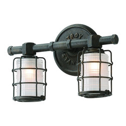 Troy Lighting - Troy Lighting B3842 Mercantile Bath Vanity Light - Rustic Bath Vanity Light in Vintage Bronze from the Mercantile Collection by Troy Lighting.