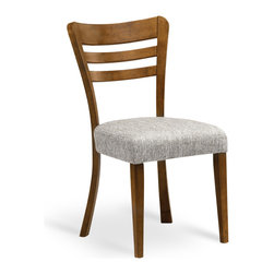 Bryght - Darby Coral Fabric Upholstered Cocoa Dining Chair - The Darby dining chair with its beautiful splayed legs, an ergonomic back and a cushioned seat, perfectly compliments the modern contemporary home.