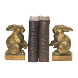 Joshua Marshal - Pair Of Baby Rabbit Bookends - Pair Of Baby Rabbit Bookends