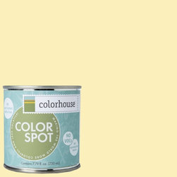 ColorSpot Eggshell Interior Paint Sample, Aspire .01, 8-oz - Test color before you paint with the Colorhouse Colorspot 8-oz  paint sample. Made with real paint and in our most popular eggshell finish, Colorhouse paints are 100% acrylic with NO VOCs (volatile organic compounds), NO toxic fumes/HAPs-free, NO reproductive toxins, and NO chemical solvents. Our artist-crafted colors are designed to be easy backdrops for living.