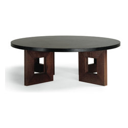 Circle Squared Coffee Table - The inclusion of circles and squares in this coffee table make it a unique and unpredictable addition to any living area.
