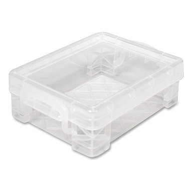 Advantus - Advantus Stackable Crayon Box - 24 x Crayon - Stackable - Width Plastic - Clear - Stackable crayon box offers a great way to organize crayons in your classroom or work area. Clear design offers visibility of the contents. Plastic crayon box holds 24 count crayon box.