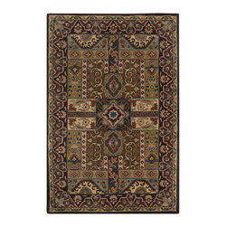Surya - Surya Caesar CAE-1048 (Dark Brown) 6' Square Rug - Surya's best selling creations have been infused with possibilities as the Caesar collection takes on new life. Designer color combinations including deep browns, charcoal gray, and muted red make these time-honored pieces suitable for any interior. Hand tufted in India of 100% wool, each rug is available in over 20 sizes, and in a variety of styles such as round, square, oval and mansion-sized.
