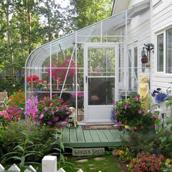 Lean to Greenhouses - Pacific single glass lean to greenhouse in Alaska.