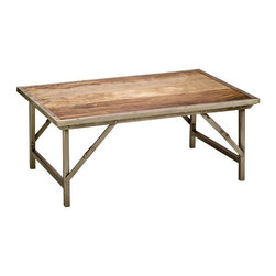 Campaign Jamie Silver 14-Inch-H Young Folding Coffee Table -