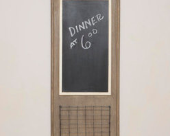 Chalkboard With Wire Basket - Perfect for that quick reminder or message, this chalkboard and basket combination would add function and charm to any wall.