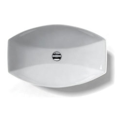 WS Bath Collections - Ceramica 23.6 x 15.0 Above The Counter Bathro - Over-counter (Vessel) Installation. Without Overflow. Made to Highest Industry Standards. Made in Italy. Product Material: White Ceramic. Finish/Color: White. Dimensions: 15 in. W x 23.6 in. L x 4.5 in. H