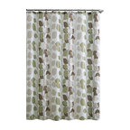 """Shower Curtain- Sydney Brown/ Green Embossed Microfiber - 72""""x 72"""" - Sydney Brown/ Green Embossed Microfiber Shower Curtain- 72""""x 72"""""""