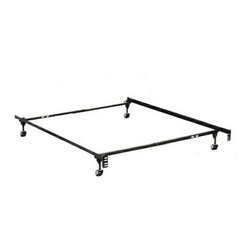 "HBF3150BL - Twin/Full Size Supreme Atlas-Lock Bed Frame Rug Rollers - Twin / Full size supreme atlas-lock bed frame with rug rollers with headboard attachment . This frame features 2"" wide rug rollers , 1 1/4"" x 1 1/4"" steel construction, steel rail side rails for solid support,  Solid rivet construction.  Some assembly required. Available in Twin / Full,  Twin / Full / queen, queen /Cal. King / Eastern King."