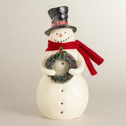 Classic Paper Pulp Snowman -