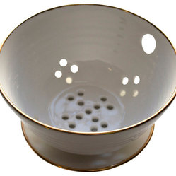 Gold-Rimmed Berry Bowl