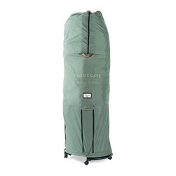 Frontgate - Adjustable Christmas Tree Storage Bag with Rolling Stand - 6' - 9' dia. (Standar - Available in two girth sizes: standard and large. Hinged branches will gently fold in for more compact storage. Rolling stand quickly and easily rolls your tree into storage. Made of sturdy, durable ripstop 600-denier polyester. Attached straps for easy toting and rolling. Our Adjustable Tree Storage Bag with Rolling Stand keeps trees dust-free and secure without having to disassemble. Simply arrange the storage bags under the tree during set up, and cover the empty bag with a tree skirt. At season's end, pull the tree bag up over the still-assembled tree and roll into storage. .  .  .  .  . Commercial-grade zippers resist rusting and breakage . Keeps the tree standing, secure and dust-free . See how our storage bags outperform all the rest .