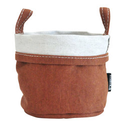 MAIKA - Recycled Canvas Bucket, Waxed Camel, Large - AS SEEN ON THE TODAY SHOW