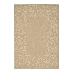 Safavieh - Safavieh Courtyard Cy5139B Coffee / Sand Area Rug - Traditional patterns and classic beauty are found in the area rugs of the Courtyard collection. Made in Belgium of enhanced polypropylene, these rugs are extremely durable and perfect for indoor or outdoor use. The area rugs of the Safavieh Courtyard collection offer highly detailed and sophisticated designs created through an unusual sisal weave. Select the colors, design, and style that will compliment any room in your home in round, rectangular or runner rugs.