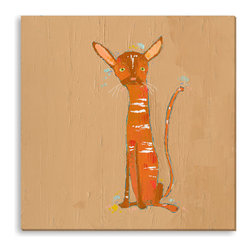 Gallery Direct - Trevor Mikula's 'Orange Tabby' Canvas Gallery Wrap - Trevor Mikula's 'Orange Tabby' Gallery Wrapped Canvas is produced using artist grade canvas and high quality latex inks. The art arrives ready to hang and is the perfect way to add visual interest and depth to your home.
