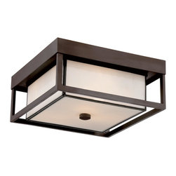 Quoizel Lighting - Quoizel Lighting PWL1613WT Powell Outdoor Flush Mount Ceiling Fixture With 3 Lig - For over seventy years, Quoizel lighting has been dedicated to the design and production of its diversified line of fine lighting products and home accessories.