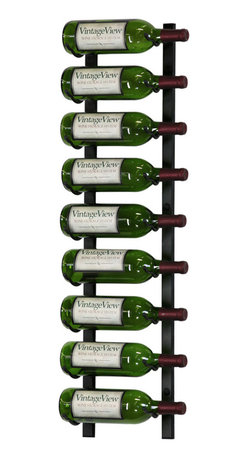VintageView - VintageView 9 Bottle Metal Wine Rack, Satin Black - Create a wall wine rack system anywhere. Decorative, reliable and flexible metal wine racks from VintageView. Showcase your wine, not the racks. We are proud to be the best dealer of VintageView products in America, and we back our position with unsurpassed customer service.