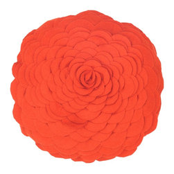 "Orange 14"" Round Prefilled Decorative Throw Pillow - *14"" Round Prefilled Pillow"
