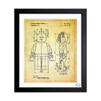 """The Oliver Gal Artist Co. - ''Lego Toy Figure 1979' 15""""x18"""" Framed Art - Exclusive blueprints inspired by real vintage patent drawings & illustrations. Handcrafted in the Oliver Gal Artist Co. Studios in Miami, Florida. Produced on matte proofing paper and hand framed by professional framers in a 1.2"""" premium black wood frame. Perfect for any interior design project, gifts, office décor, or to add special value to one of your favorite collections."""