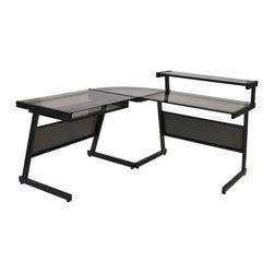 Eurostyle Eurostyle Landon L Shaped Desk In Graphite