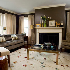 Transitional Living Room by Taste Design Inc