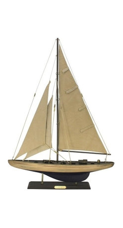 "Handcrafted Nautical Decor - Rustic Enterprise Limited 27"" - Wood Sailboat - Not a model ship kit"