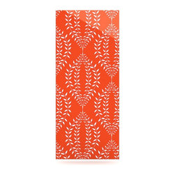 "Kess InHouse - Anneline Sophia ""Laurel Leaf Orange"" Red Floral Metal Luxe Panel (9"" x 21"") - Our luxe KESS InHouse art panels are the perfect addition to your super fab living room, dining room, bedroom or bathroom. Heck, we have customers that have them in their sunrooms. These items are the art equivalent to flat screens. They offer a bright splash of color in a sleek and elegant way. They are available in square and rectangle sizes. Comes with a shadow mount for an even sleeker finish. By infusing the dyes of the artwork directly onto specially coated metal panels, the artwork is extremely durable and will showcase the exceptional detail. Use them together to make large art installations or showcase them individually. Our KESS InHouse Art Panels will jump off your walls. We can't wait to see what our interior design savvy clients will come up with next."