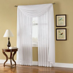 S. Lichtenberg & Company, Inc. - Caprice Sheer Rod Pocket Window Curtain Panel - These textured sheer window treatments gently filter light for a serene atmosphere and added privacy, while vertical stripes are woven with subtle yarns to create a unique effect. The soothing, spa inspired color palette coordinates with any home decor.