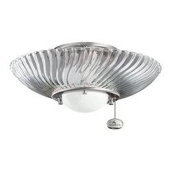 Kichler Lighting - Kichler Lighting 380113BSS Decor Swirl Ceiling Fan Light Kit - Kichler Lighting 380113BSS Decor Swirl Ceiling Fan Light Kit