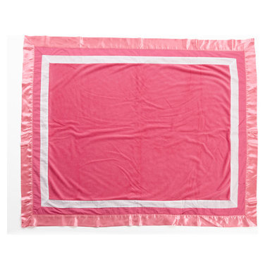 Simplicity Hot Pink - Medium Quilt - Simplicity Hot Pink coordinating quilt is an overall universal quilt like no other.  Soft minky on both sides make this the perfect blanket anytime and anywhere! Pink minky on both sides with accents framed in white and trimmed in our pink satin trim.  Not only does this quilt coordinate with the entire set you can also enjoy using this outside the crib and for years to come!