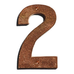 Mission Metalworks Prairie Solid Copper House Numbers 2