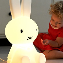 Mr Maria - Miffy Lamp - A modern designer lamp for kids. LED powered, made of durable polyethylene and equipped with a dimmer. This minimalist designer lamp will fit well into any modern contemporary space.