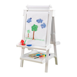 KidKraft - Kidkraft Deluxe Wood Easel With Paper Dispenser, White - Creativity, functionality and style come together in KidKraft's Deluxe Wood Easel. With classic lines that will enhance any room or play setting, KidKraft's Deluxe Wood Easel will bring out your child's inner-artist.