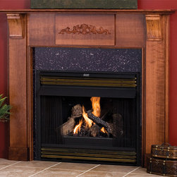 Fulton Wood Fireplace Mantel - The Fulton wood fireplace mantel highlights the natural wood beauty with its minimalistic design. With multiple wood choices and finish options, the Fulton can be fully customized to fit your specific design aesthetics. - Mantels Direct