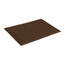 Bungalow Flooring - 24 in. L x 36 in. W Dark Brown Waterguard Dogwood Leaf Mat - Made to order. Leaf design traps dirt, resists fading, rot and mildew. Indoor and outdoor use. 24 in. L x 36 in. W x 0.5 in. H