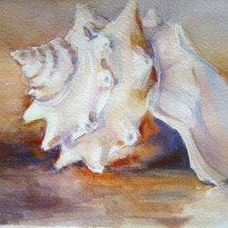 """Summer'S Calling"" (Original) By Linda D'Urbano - After A Very Long, Snowy, Cold Winter In New Jersey I Needed Something Summery To Paint. This Pretty Little Conch Shell Was The Perfect Escape. I Loved The Delicate Shape. I Imagined If I Held It To My Ear I'D Hear Summer Calling Me."