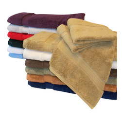 "Bed Linens - Egyptian Cotton 900GSM 6pc Face Towel Set Purple - Towel Set Includes:    Six Face Towels - 13""x13"" each"