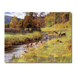 Picture-Tiles, LLC - Tennessee Scene Tile Mural By Theodore Steele - * MURAL SIZE: 12.75x17 inch tile mural using (12) 4.25x4.25 ceramic tiles-satin finish.